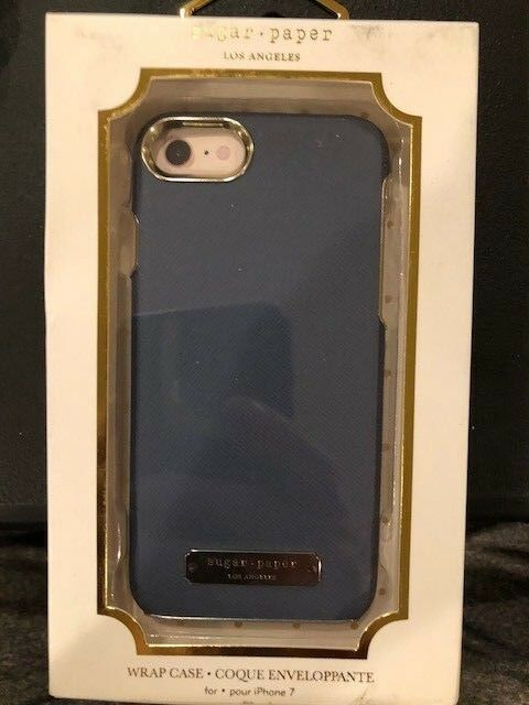 iPhone Case - Sugar Paper Wrap Case for iPhone 8 & iPhone 7 - Navy Blue Saffiano