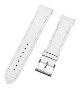 Nautica Men's Men's A20506g Wristwatch Bands Jewelry & Watches N20506g Nct 400 Chrono 22mm White Watch Band Keep You Fit All The Time