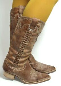 Cowboystiefel Line Dance Catalan Style Westernstiefel Leder Boots Texas 38