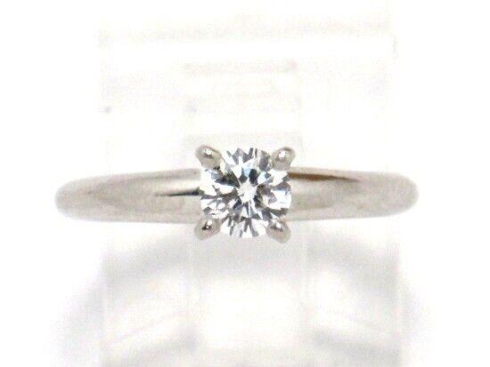 Ben Bridge Platinum Round Diamond Solitaire Engagement Ring .36ct