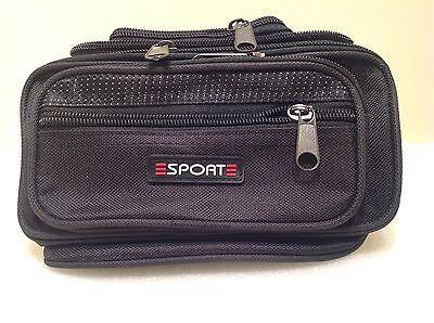 Black Waist Fanny Pack Belt Bag Pouch Travel Sport Hip Purse Men Women Bum