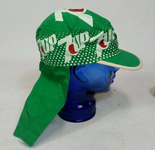 Vtg 70s Kentucky Waterfall 7 Up Painters Cap Hat Surf Beach Boat Dr Pepper Pepsi