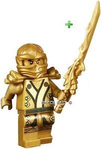LEGO NINJAGO - LLOYD GOLDEN NINJA FIGURE + DRAGON SWORD - 70505 ...