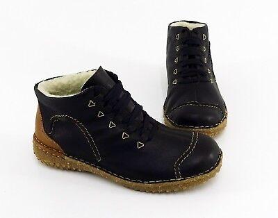 Stiefeletten Rieker Boots Schnürer Echtleder braun Gr.38   eBay