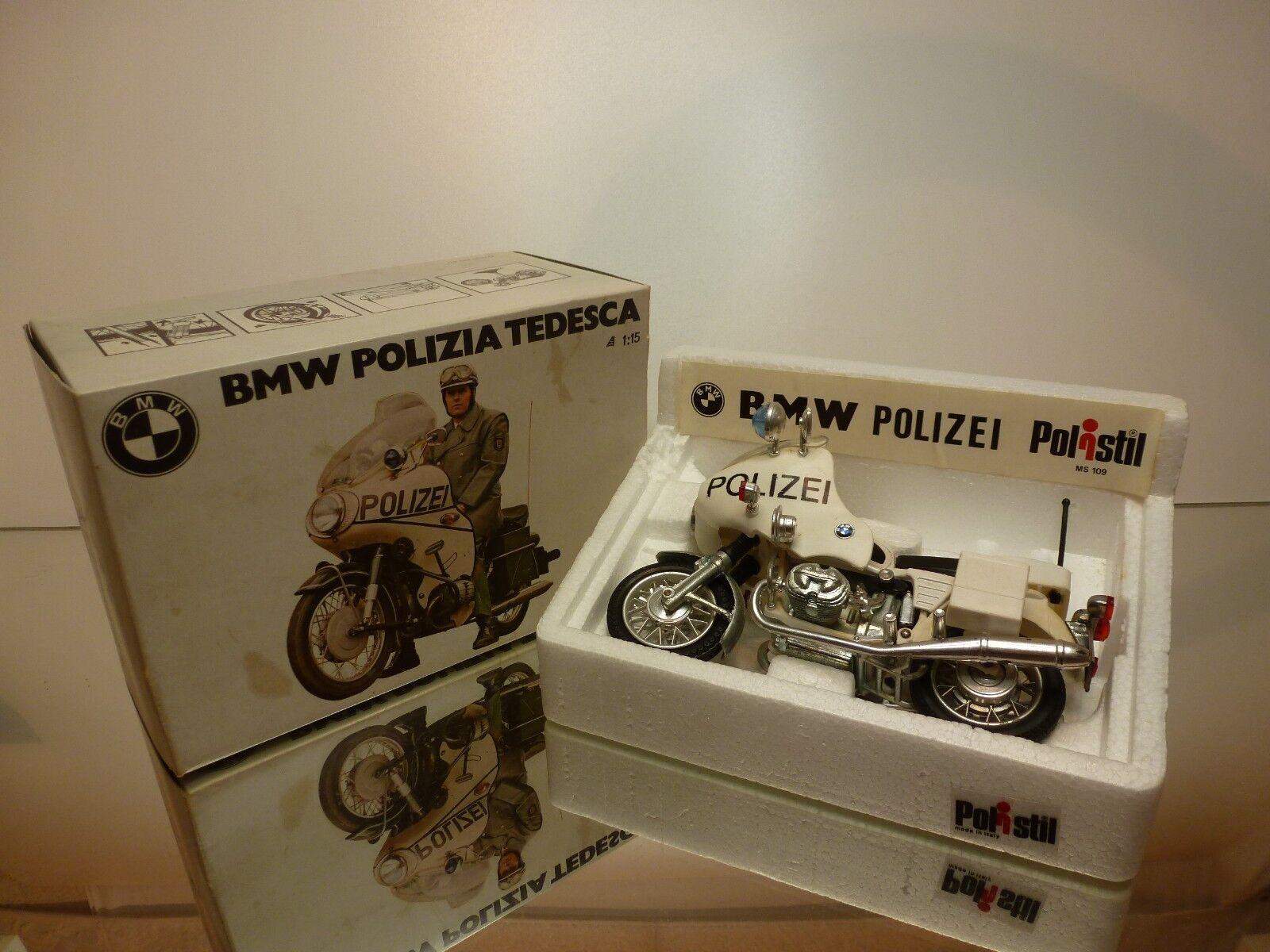 POLISTIL MS109 BMW R75 5 POLIZEI POLIZIA TEDESCA - OFF-Weiß 1 15 - GOOD IN BOX