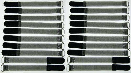 20x velcro-serre-câbles FK 16cm x 16mm Noir Câble-velcro Bandes Câble-velcro