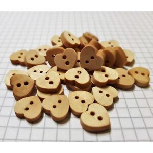 Bunte Holzknöpfe Holz Knöpfe Herz Holzknöpfe zum 100 Stück Holzknöpfe