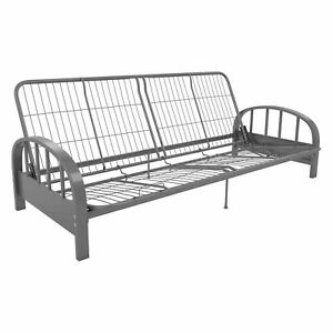 best sneakers b9450 fa6c8 DHP Aiden Metal Futon Frame Full Size - Silver