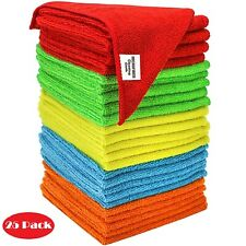 Bulk Microfiber Cleaning Cloth Towels For Cars Kitchen Rags No-Scratch Polishing