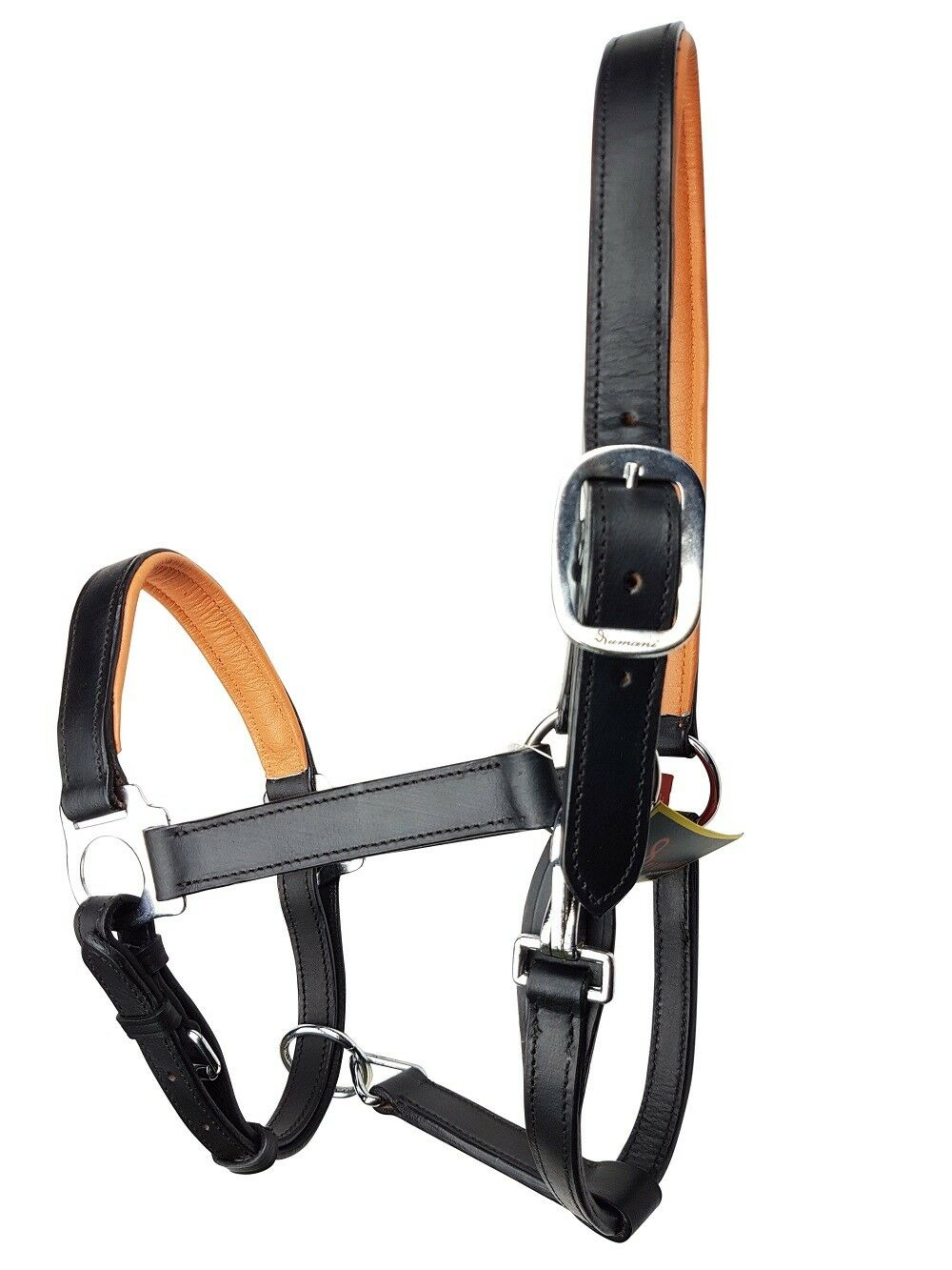 RUMANI Horse Leather HALTER, Contrasting Colour Padding & Strong Sheet Metal HW