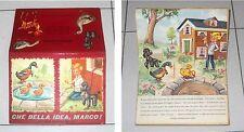 Libro Pop-Up 3D CHE BELLA IDEA MARCO Editrice Piccoli Collana Rugiada 1 Anni 60