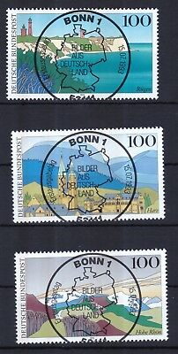 Brd 1993 Esst Bonn Gestempelt Minr. 1684-1696 Bilder Aus Deutschland Knitterfestigkeit