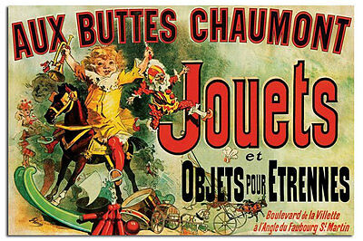 Laminated Available Aux Buttes Chaumont Jouets As Seen On Friends Poster New