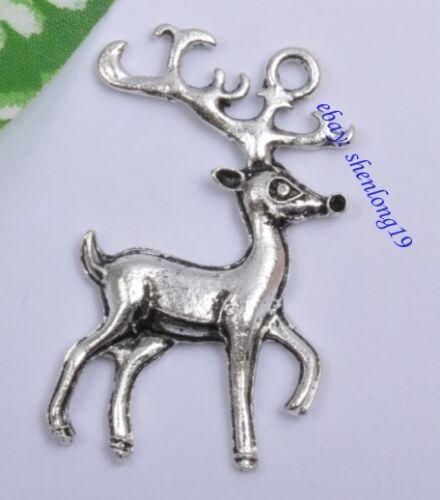 Free Ship 10pcs tibet silver deer Charms SH873