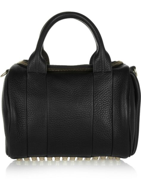 1aa5b799b9e1 Alexander Wang Rockie Bag Handbag Black Gold Smooth Attica Rocco Prisma  Backpack for sale online