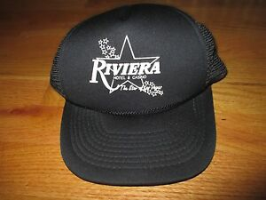 Vintage RIVIERA Hotel & Casino Las Vegas Nevada (Adjustable Snap Back) Mesh Cap