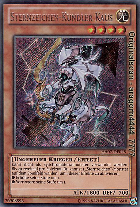 signo del zodíaco-kundler Kaus Yu-Gi-Oh SCR ha07-de045 Top