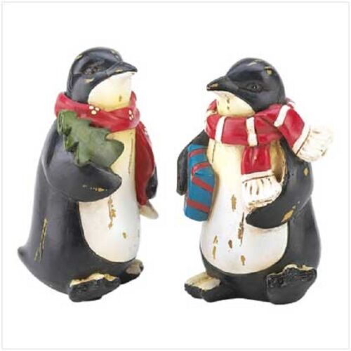 HOLIDAY PENGUIN FIGURINES
