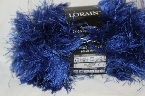 Premiere Loraine Yarn Fun Fur 1.75 oz each 1 skein Royal Blue