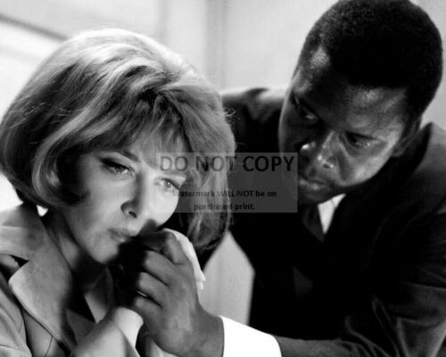"""SIDNEY POITIER /& LEE GRANT /""""THE HEAT OF THE NIGHT/""""  8X10 PUBLICITY PHOTO CC437"""