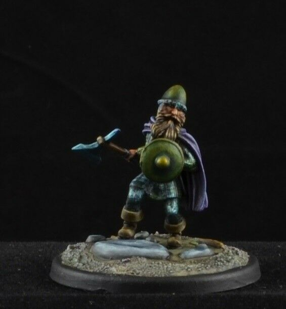Painted Dwarf Warrior with Axe from Dark Sword Miniatures, D&D character male