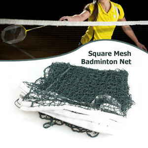 6.1m x 0.76m Professional Training Square Mesh Badminton Net Green