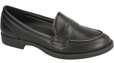 Damas Spot On Informal Zapatos Sin Cordones Mocasín Estilo ---f9723 tamaño negro