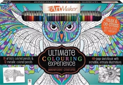 Art Maker Ultimate Colouring Experience Magnificent Creatures Set NEW /& Sealed