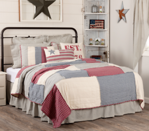 HATTERAS-PATCH-QUILT-SET-choose-size-amp-accessories-Patchwork-Americana-VHC-Brand