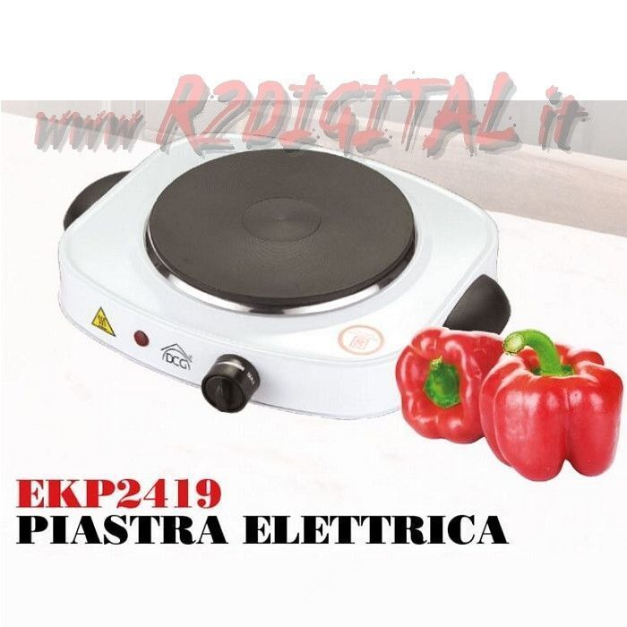 ESTUFA DCG EKP2419 1500W MINI ELÉCTRICO PLACA VIAGGIO  ACAMPADA QUEMADOR  no hesitation!buy now!