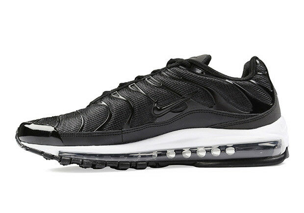 online retailer 0d165 b3180 Nike Air Max 97 Plus Black White Running Training Shoe Ah8144-001 Men Size  8.5