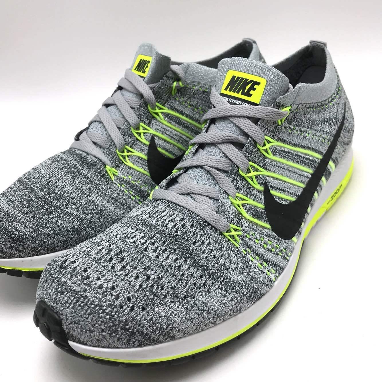 Casual wild Nike Flyknit Streak Men's Running Shoes Wolf Grey/Black-Anthracite 835994-007