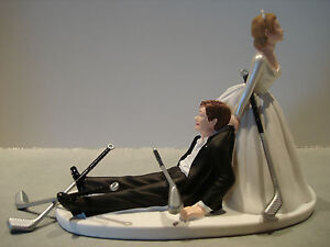 Image Is Loading Golf Golfer Golfing Funny Bride Groom Wedding Cake