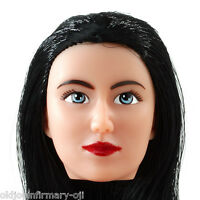 Fembasix Cg Cy Girl Lia Female Figure Head Black Hair Fair Skin 1:6 Scale