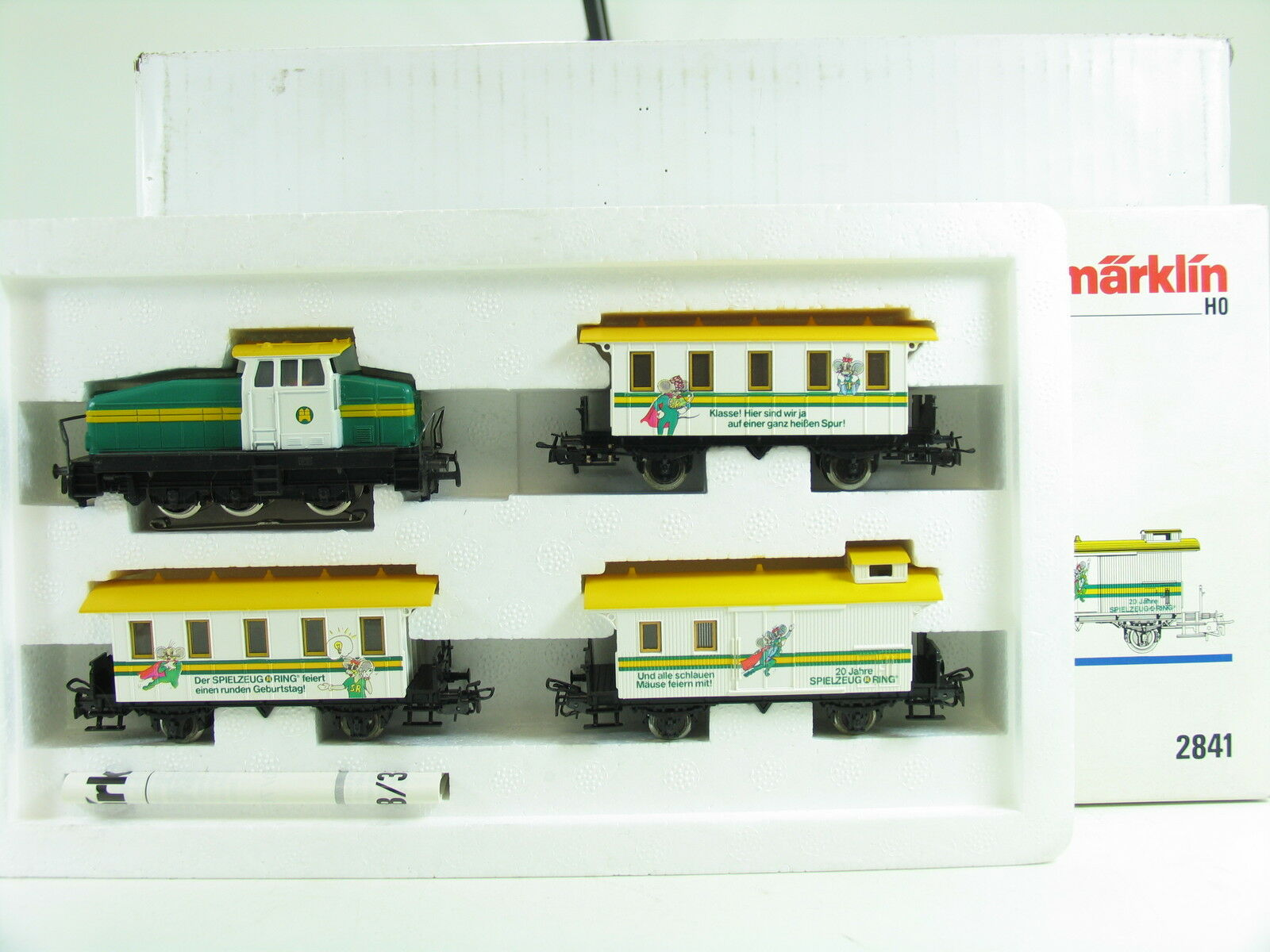 Märklin h0 2841 Anniversary Train  20 years toy-Ring  4 pieces Boxed (d3467)