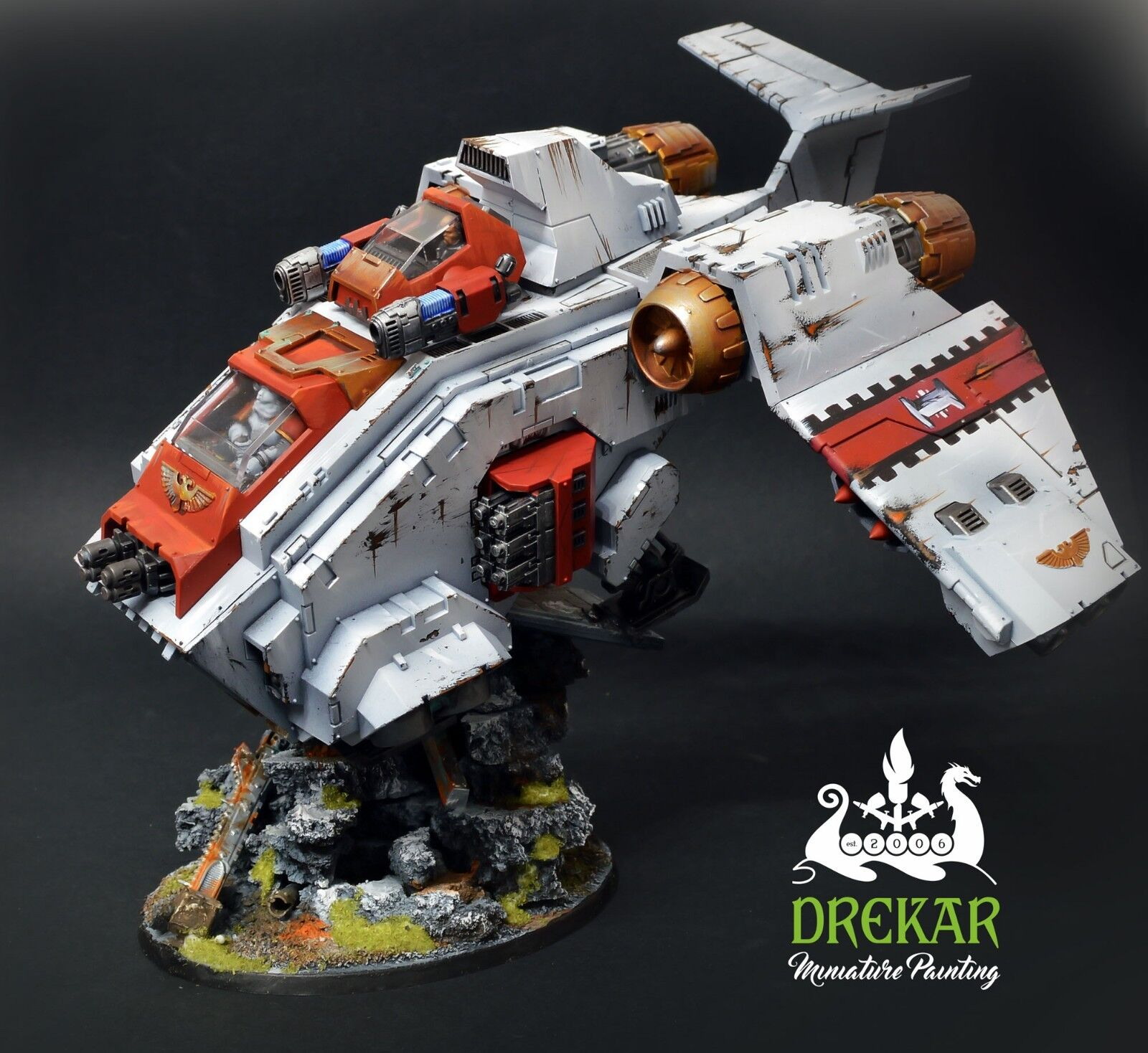 STORMRAVEN GUNSHIP warhammer 40K    COMMISSION  painting 0109fd