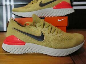 DS Nike Epic React Flyknit 2 Metallic GOLD Black Red 12 BQ8928 700 Running  racer | eBayeBay