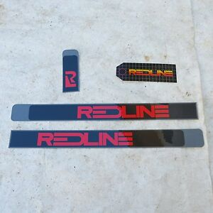 REDLINE-DECALS-1980s-REAL-VINTAGE-bmx-cruiser-freestyle-NOS-with-PRICE-TAG