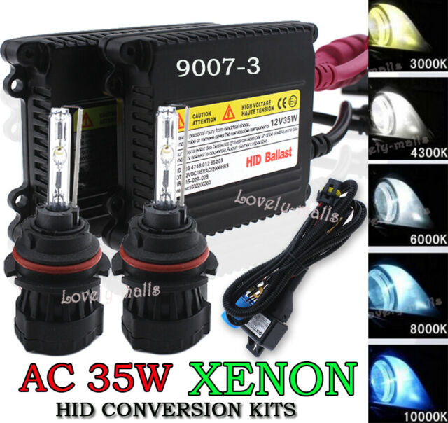 55W HID Headlight Bulb Conversion Xenon Halogen Hi-Lo H13-2 10000k Blue Color B1