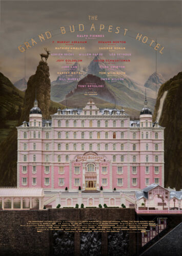 The Grand Budapest Hotel Movie Giant Wall Art Poster Print Various Sizes