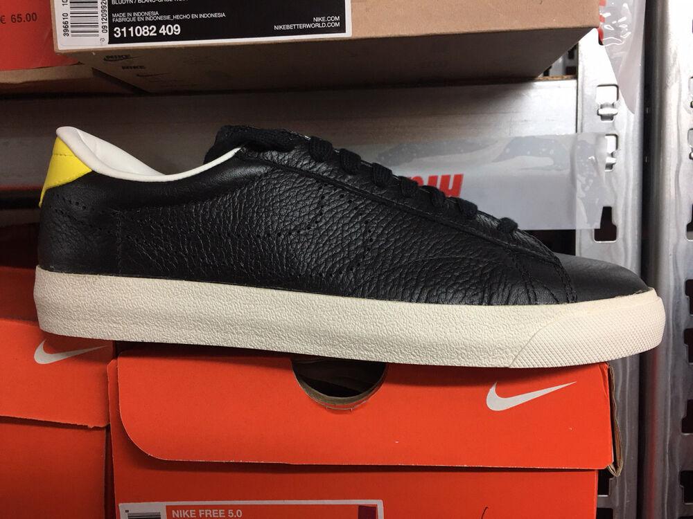 Nike Tennis Classic AC ND NEUF gr:41 Noir/Jaune Leather Cuir Sneaker Rétro- Chaussures de sport pour hommes et femmes