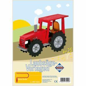 PEBARO-Laubsaegevorlage-Traktor-3D-Figur