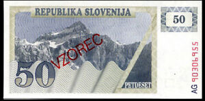 UNC SLOVENIA 50 TOLARJEV 1990 P-5a