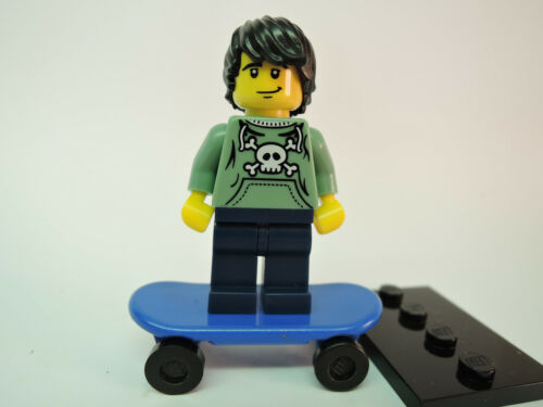 Lego Figur Sammelfigur Serie 1 Nr 6  Skater kpl Platte  COL006  TOP
