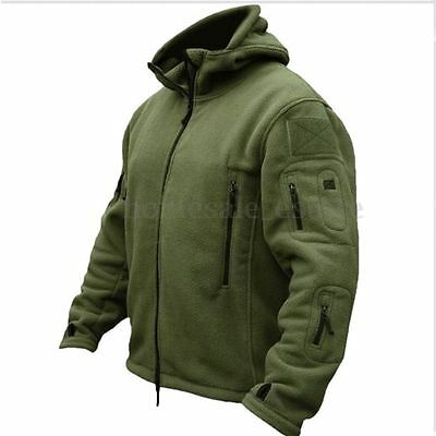 Mens Hiking Walking Jacket Winter Tactical Army Zip Fleece Coats Hoodies Outwear