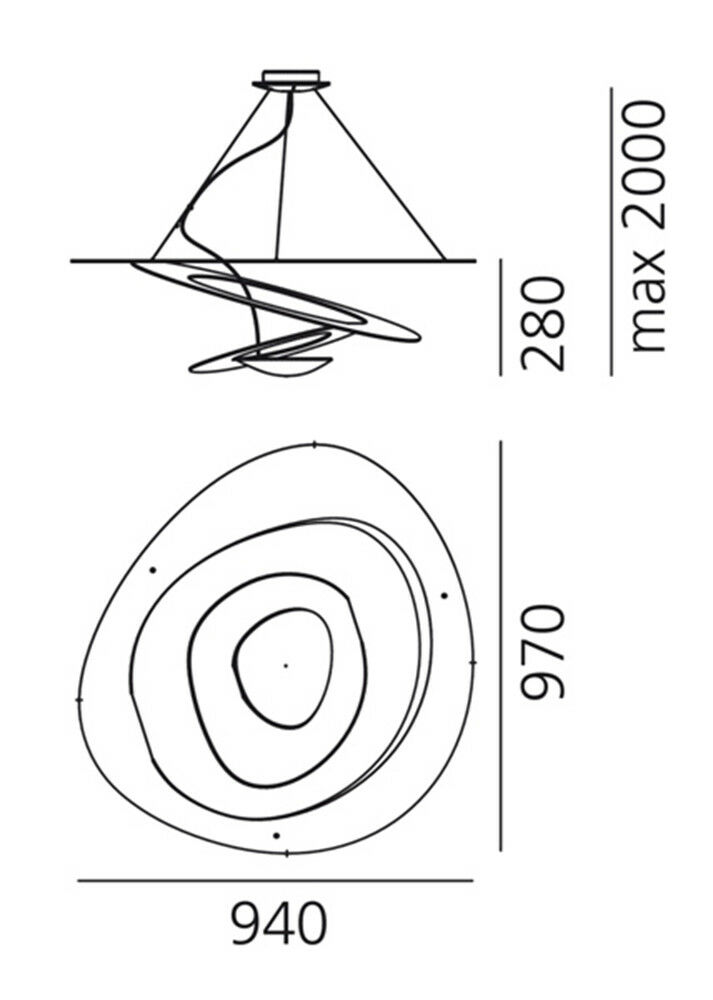 Lampada a sospensione Pirce alogena firmata Artemide Artemide Artemide 8d1413