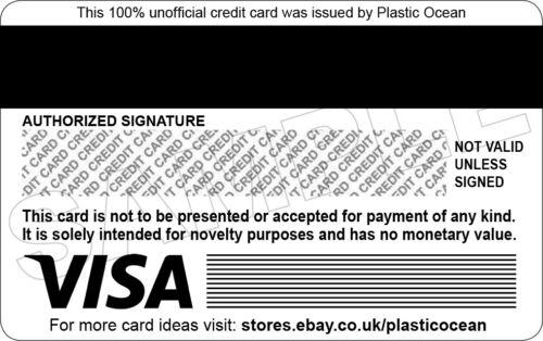Dingo Fantaisie Plastique Carte de Crédit