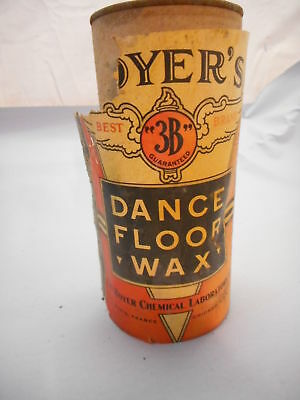 Vintage Can Of Boyers 3b Dance Floor Wax 1 Pound Canister