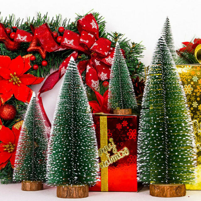 Novelty Mini Desktop Gift Ornament Pine Tree Decoration Christmas Tree