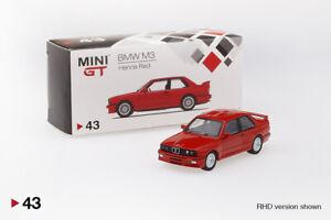 E30 MINI GT 1:64 BMW M3 Red LHD